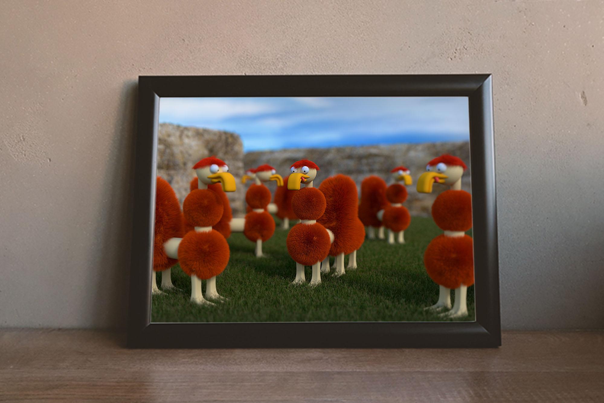 Alien Sheep Art Print