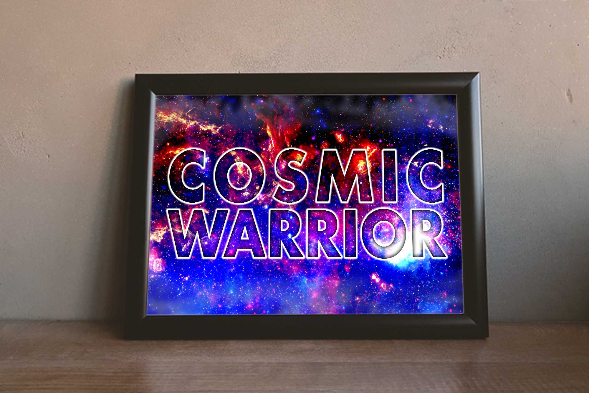 Cosmic Warrior Art Print