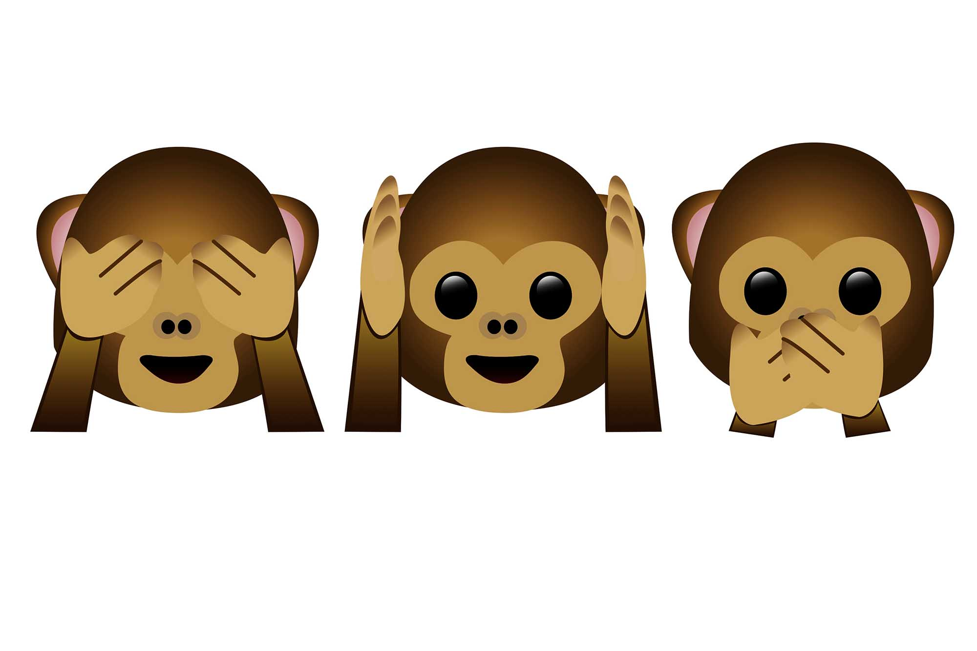 Image result for hear no evil see no evil speak no evil emoji