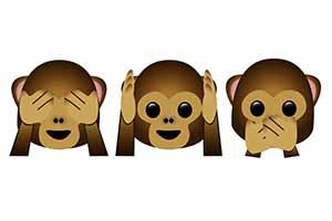 Hear No Evil See No Evil: Monkey Emoji