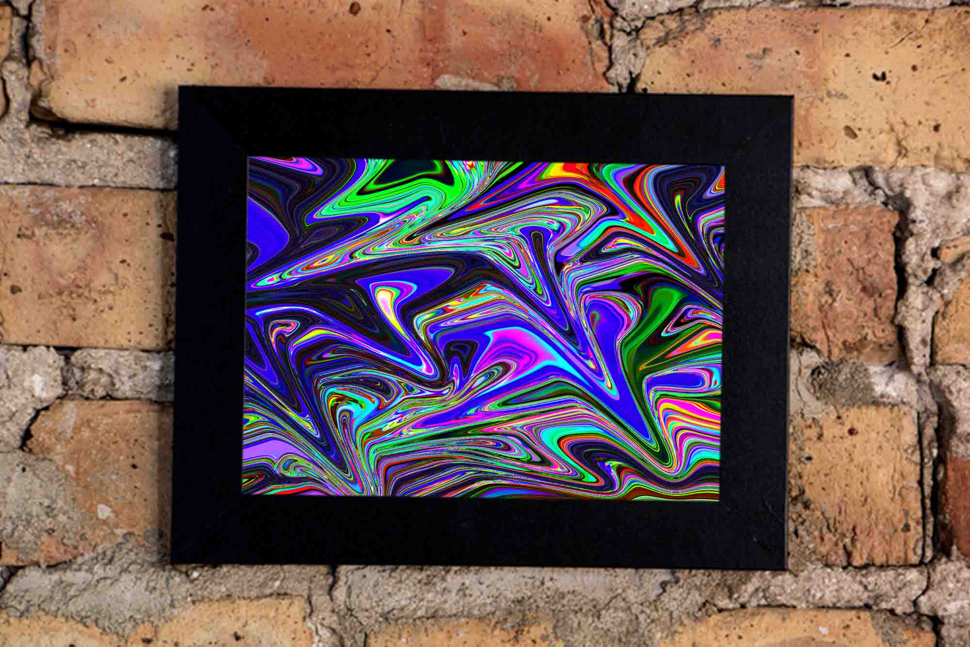 Liquid Colors Art Print