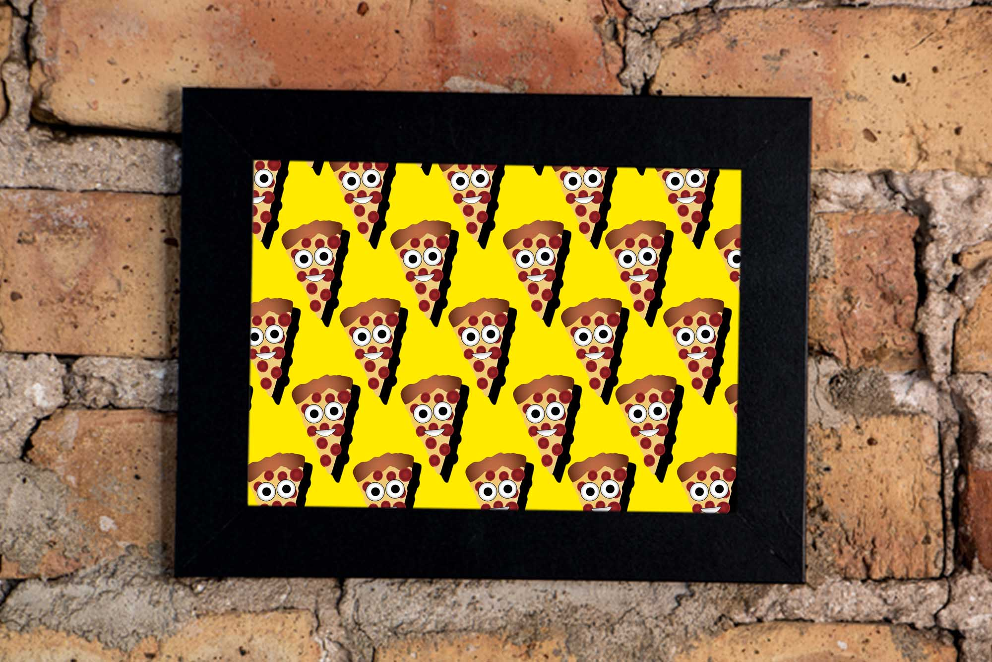 Pizza Emojis Art Print