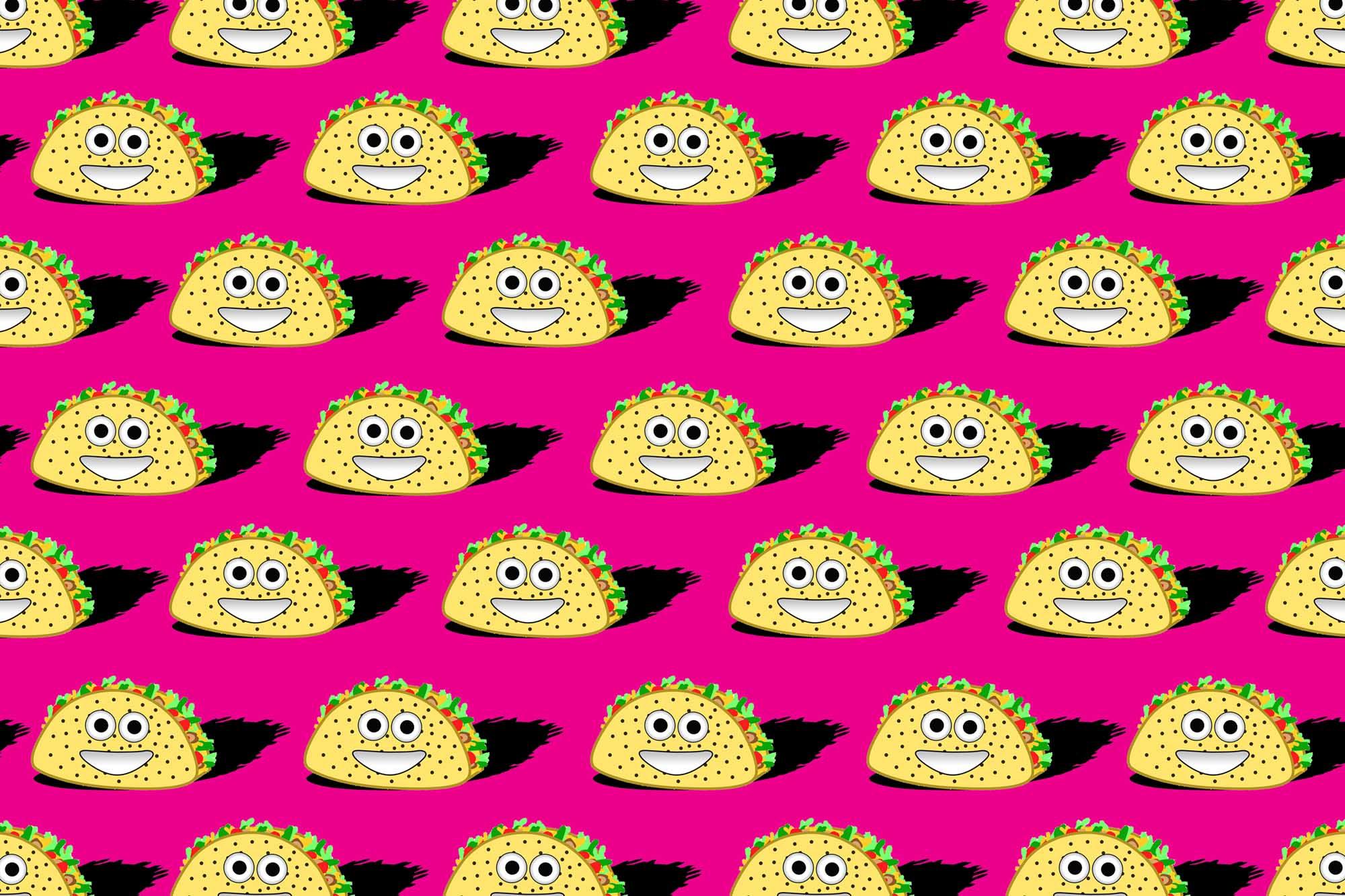 Taco Emojis Art Print